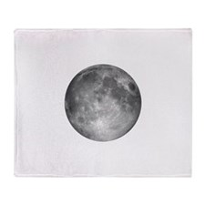 Cute Full moon Throw Blanket