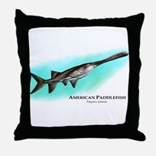 American Paddlefish Throw Pillow