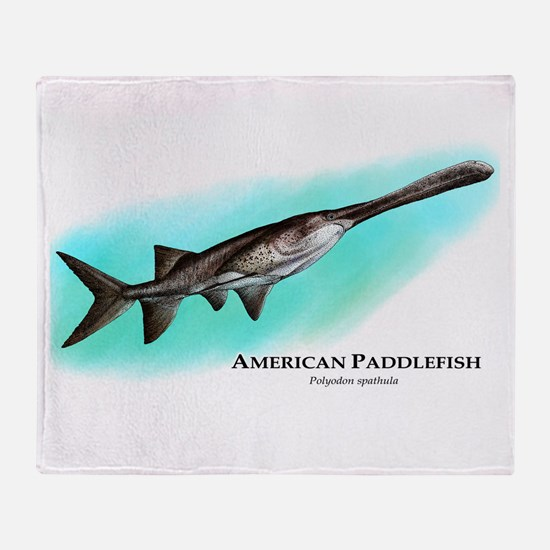 American Paddlefish Throw Blanket