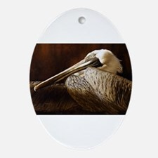 NEW,PELICAN JAKE Ornament (Oval)