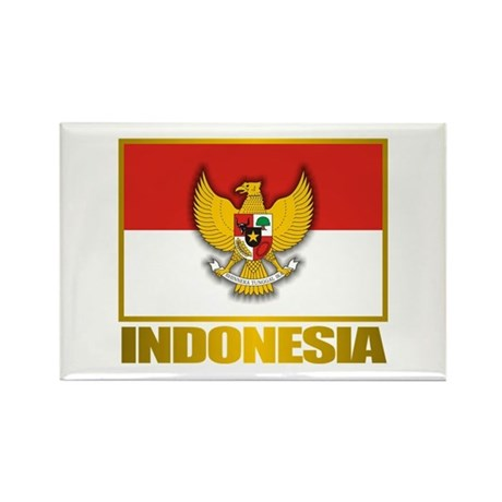 """Indonesian Pride"" Rectangle Magnet"