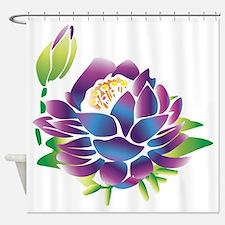 Sacred Purple Lotus Shower Curtain