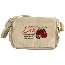 Biker Love Messenger Bag