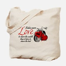 Biker Love Tote Bag