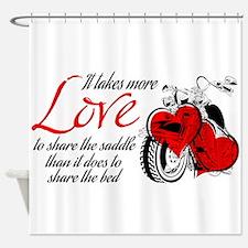Biker Love Shower Curtain