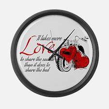 Biker Love Large Wall Clock