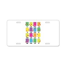 Chord Cheat Tee White Aluminum License Plate