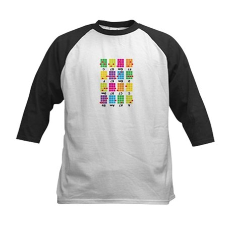 Chord Cheat Tee White Kids Baseball Jersey
