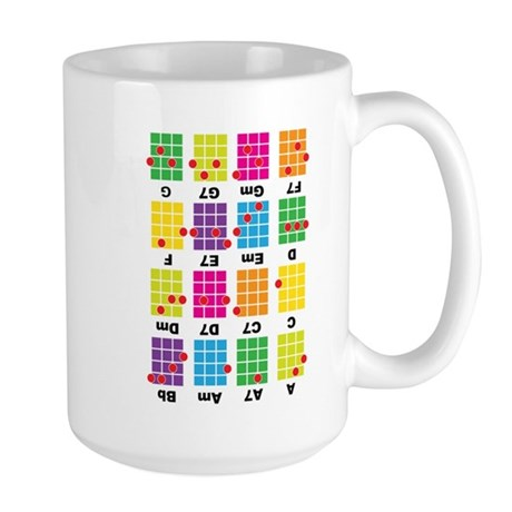 Chord Cheat Tee White Large Mug