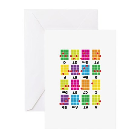 Chord Cheat Tee White Greeting Cards (Pk of 10)