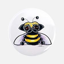 """Cute Pug Bee 3.5"""" Button"""