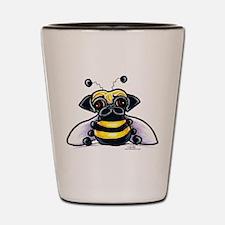 Cute Pug Bee Shot Glass