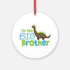 Dinosaur Big Brother Ornament (Round)