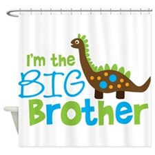 Dinosaur Big Brother Shower Curtain