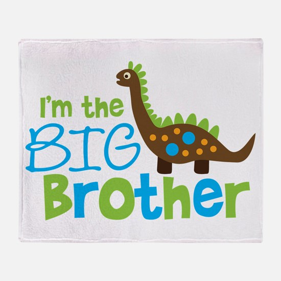 Dinosaur Big Brother Throw Blanket