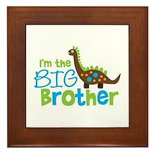 Dinosaur Big Brother Framed Tile