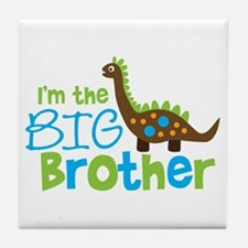Dinosaur Big Brother Tile Coaster