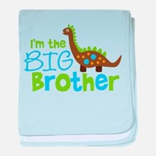 Dinosaur Big Brother baby blanket