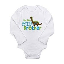 Dinosaur Big Brother Long Sleeve Infant Bodysuit