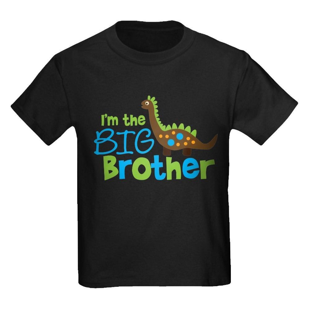 CafePress Dinosaur Big Brother Kids Dark T-Shirt