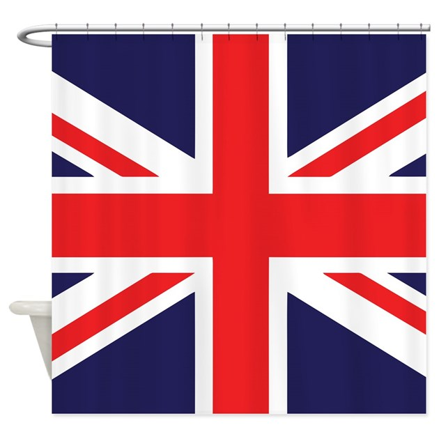 Union Jack Shower Curtain By Zpuk