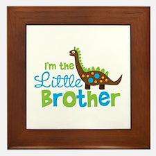 Dinosaur Little Brother Framed Tile