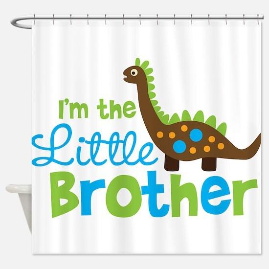 Dinosaur Little Brother Shower Curtain