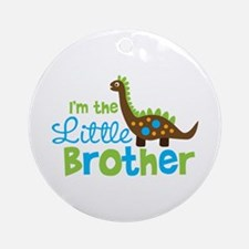 Dinosaur Little Brother Ornament (Round)