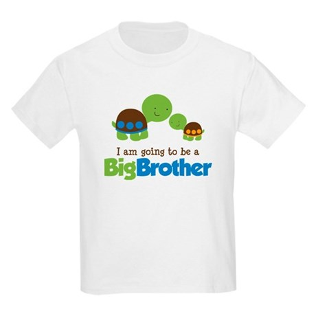 Turtle going to be a Big Brother Kids Light T-Shir