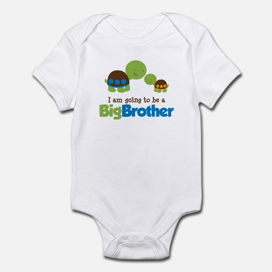 Turtle going to be a Big Brother Infant Bodysuit