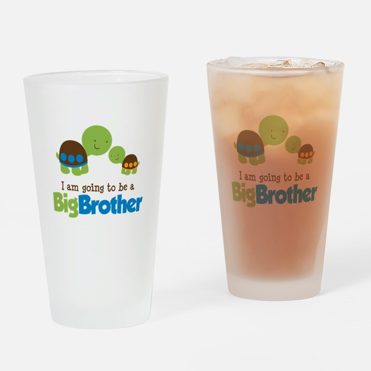 Turtle going to be a Big Brother Drinking Glass