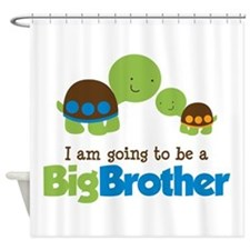 Turtle going to be a Big Brother Shower Curtain