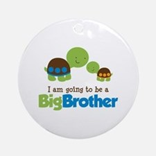 Turtle going to be a Big Brother Ornament (Round)