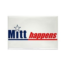 "Mitt Romney ""Mitt Happens"" - Rectangle M"
