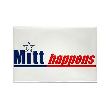 "Mitt Romney ""Mitt Happens"" - Rectangle M"