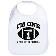 Cute 1 Year Old Football Bib