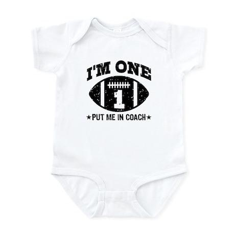 Cute 1 Year Old Football Infant Bodysuit