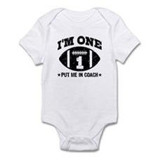 Cute 1 Year Old Football Infant Bodysuit