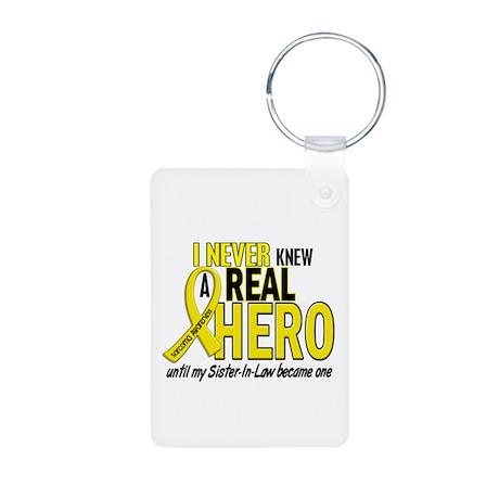 Real Hero Sarcoma Aluminum Photo Keychain