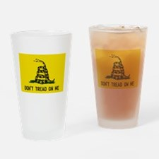 Gadsden Traditional Flag Drinking Glass