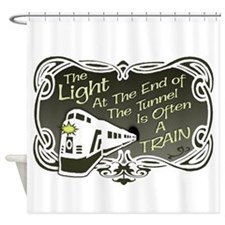 End of the tunnel Shower Curtain