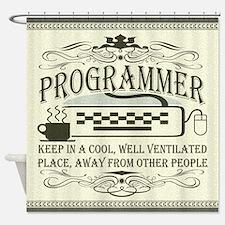 Vintage Programmer Shower Curtain