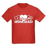 I Love My Mom and Dad Kids Dark T-Shirt