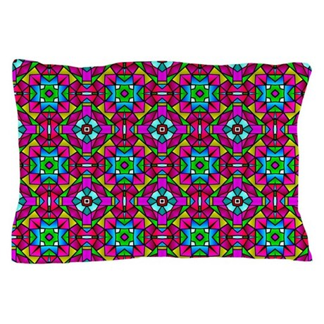 Stain Glass Print Pillow Case