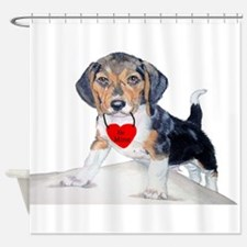 Bagel the Beagle Shower Curtain