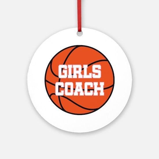 Girls Basketball Coach Gift Ornament (Round)