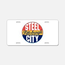 Pittsburgh Vintage Label Aluminum License Plate
