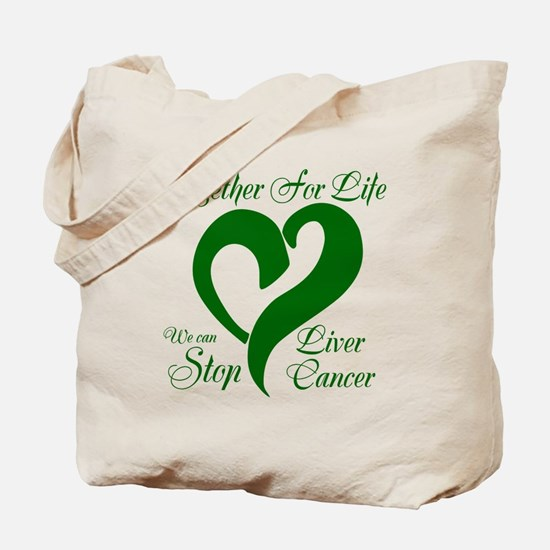 Stop Liver Cancer Tote Bag