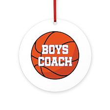 Boys Basketball Coach Gift Ornament (Round)