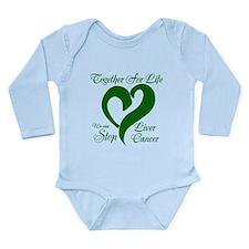 Stop Liver Cancer Long Sleeve Infant Bodysuit